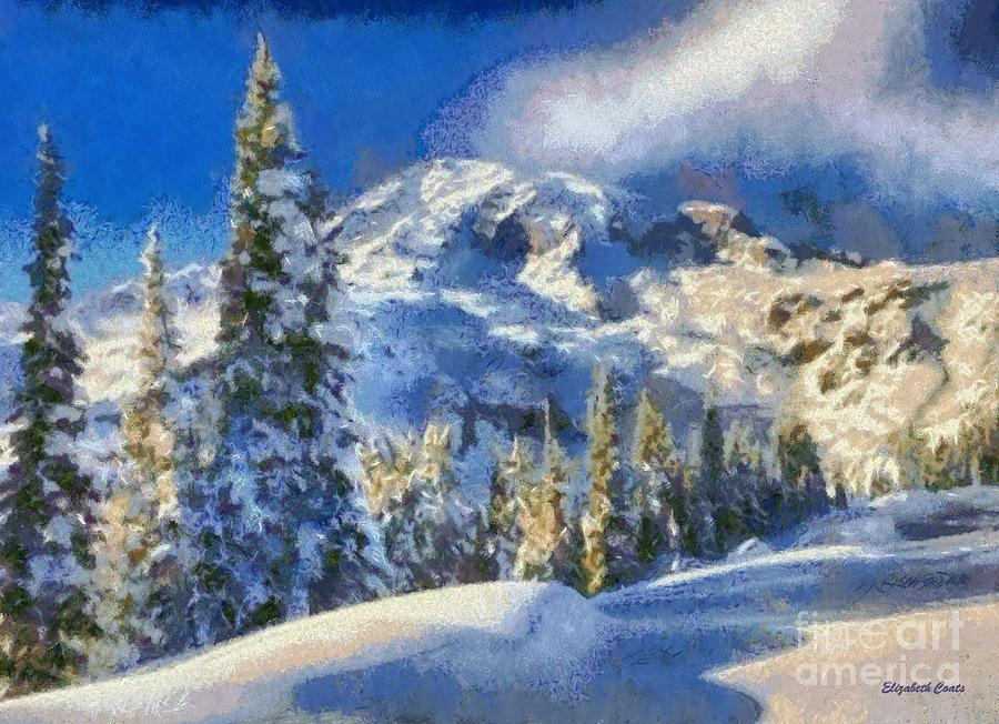 Painting Snowy Mountains In Acrylic