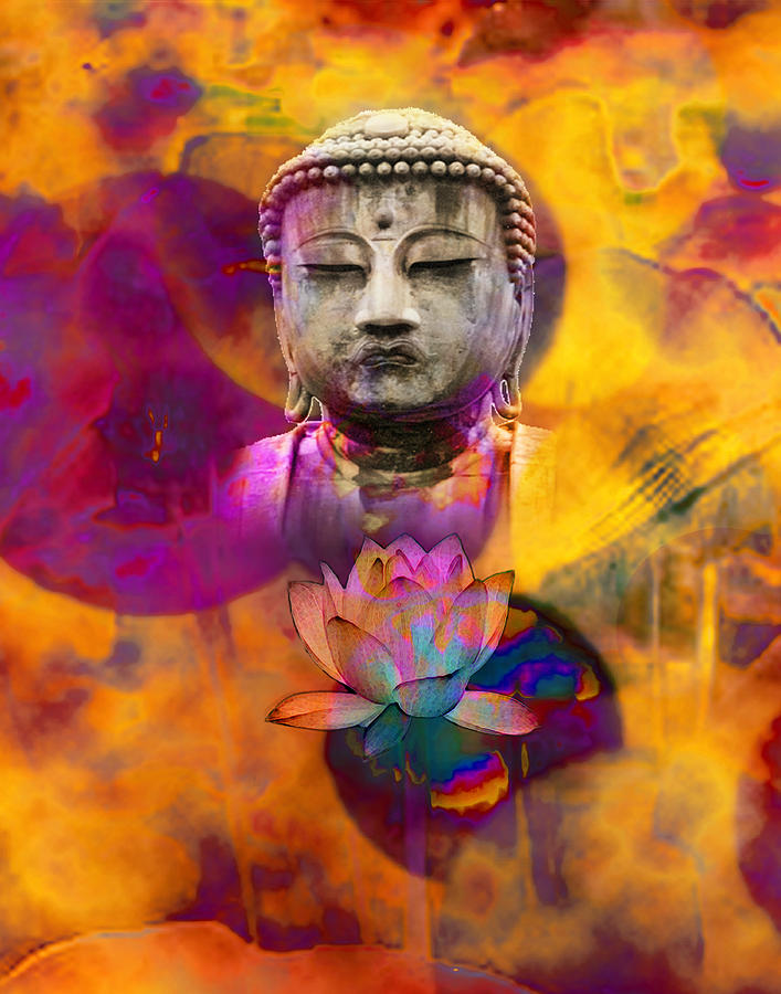 Buddha Digital Art - Serenely Awakened One by Bruce Manaka