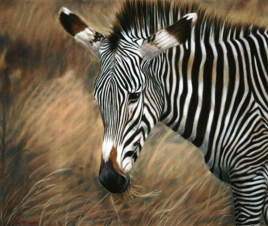 Children's Rooms Painting - Serengeti Zebra by Carol McCarty