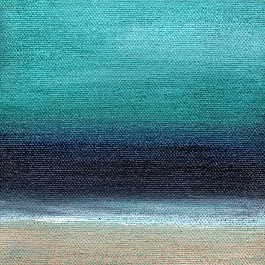 Beach Painting - Serenity- Abstract Landscape by Linda Woods