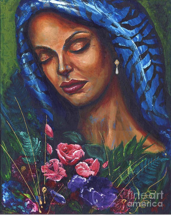 Woman Painting - Serenity by Alga Washington