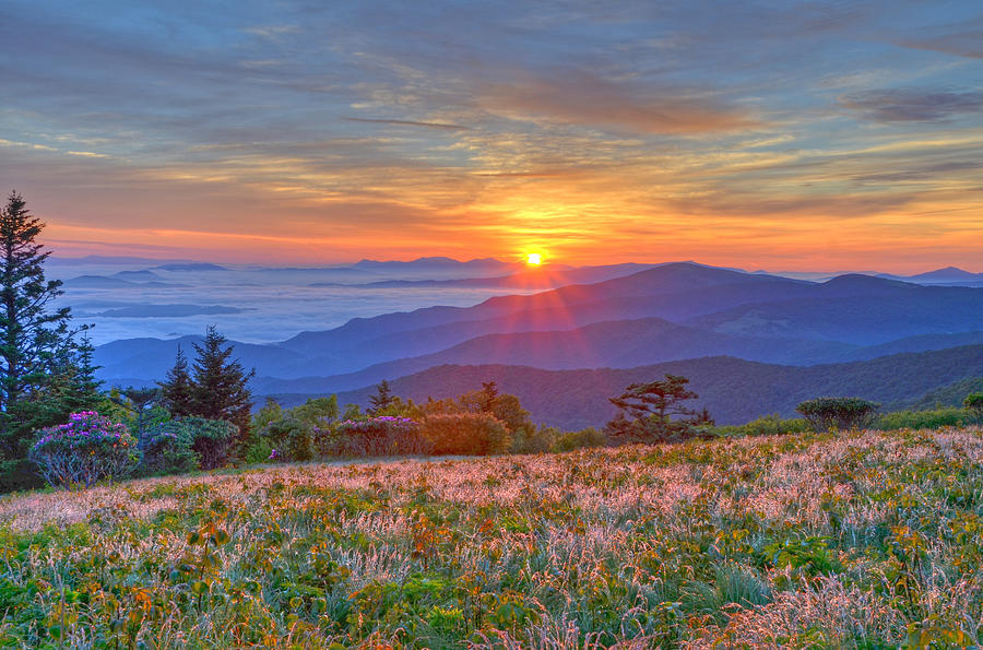 Sunrise Photograph - Serenity at Sunrise by Mary Anne Baker