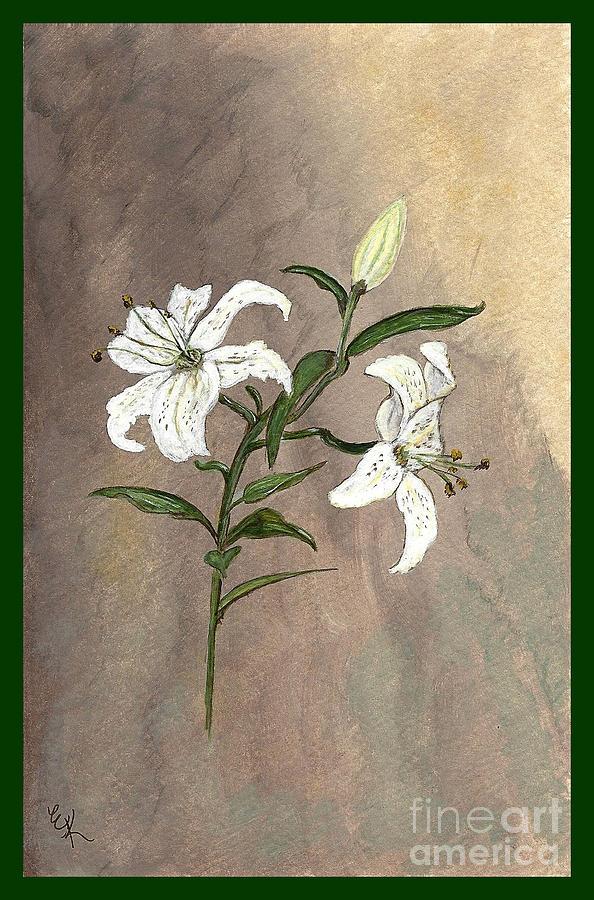 Flower Painting - Serenity by Ella Kaye Dickey