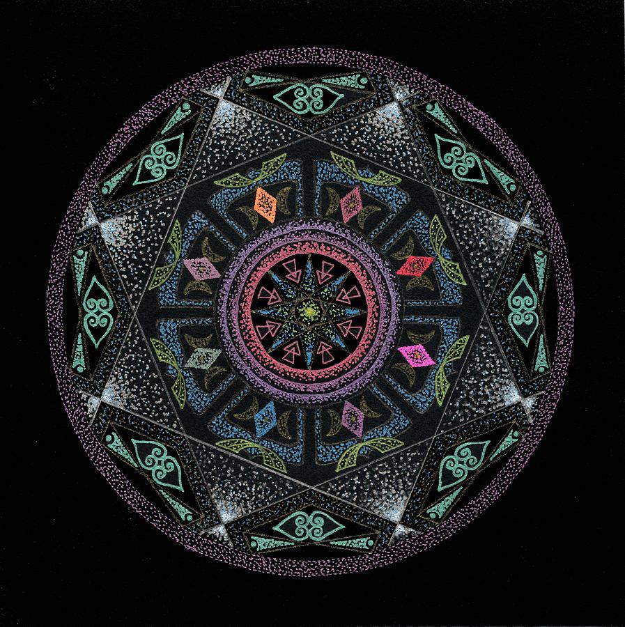 Sacred Geometry Painting - Serenity by Keiko Katsuta