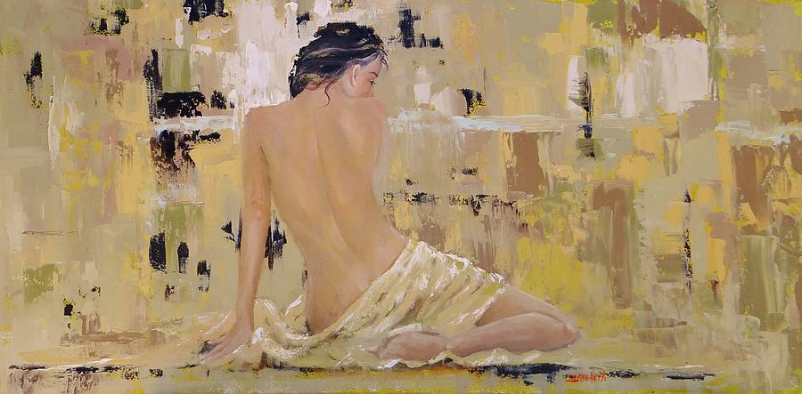 Sexy Woman Painting - Serenity by Laura Lee Zanghetti