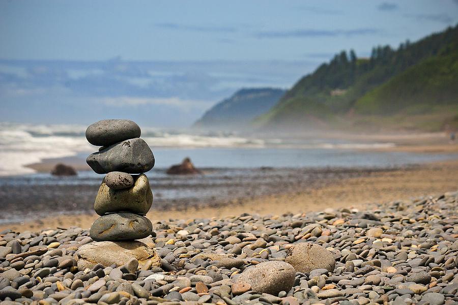 Oregon Coast Photograph - Serenity by Lisa Chorny