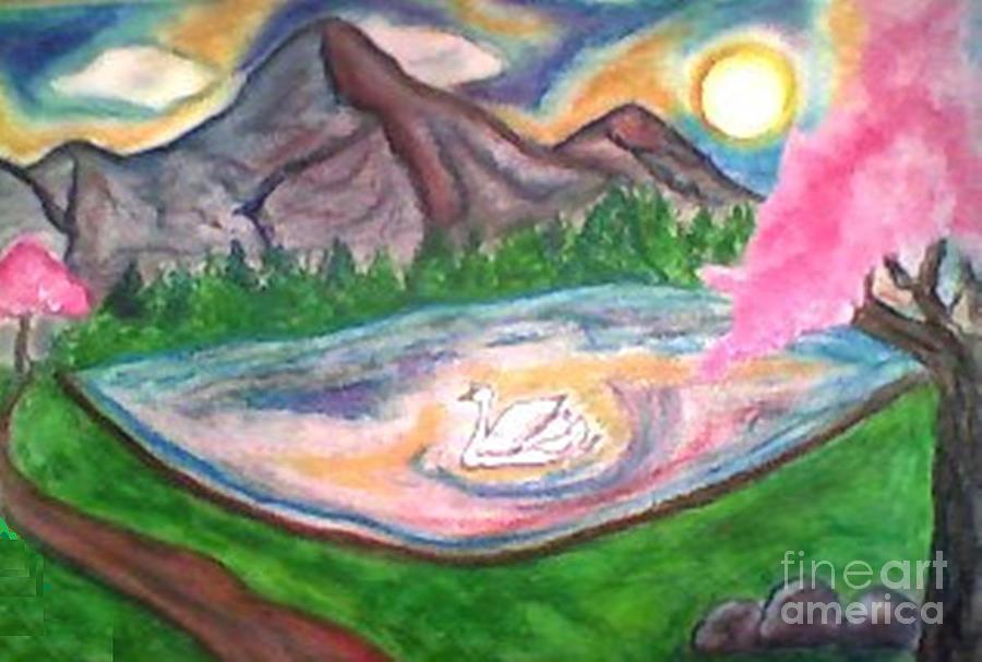 Pond Pastel - Serenity Pond by Lewanda Laboy
