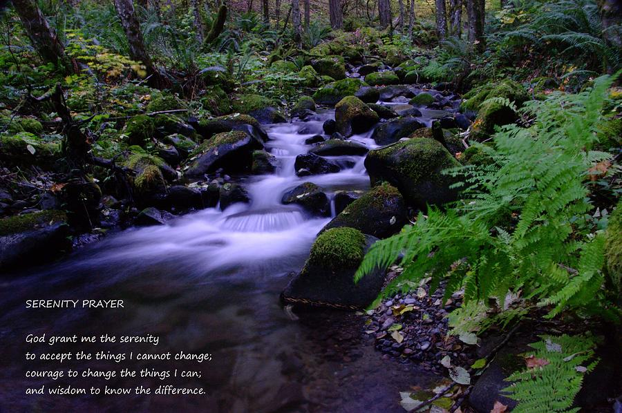 Water Photograph - Serenity Prayer  by Jeff Swan