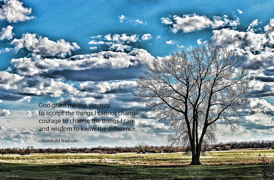 Landscape Photograph - Serenity Prayer by Sylvia Thornton