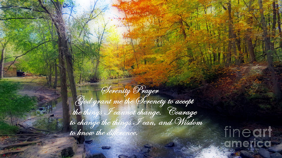 Serenity Prayer With Beautiful Autumn Scene Photograph By