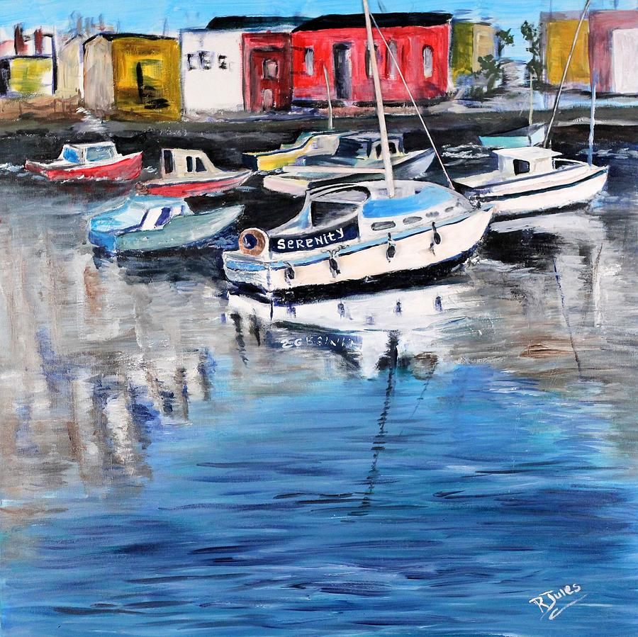 Boat Painting - Serenity by Richard Jules