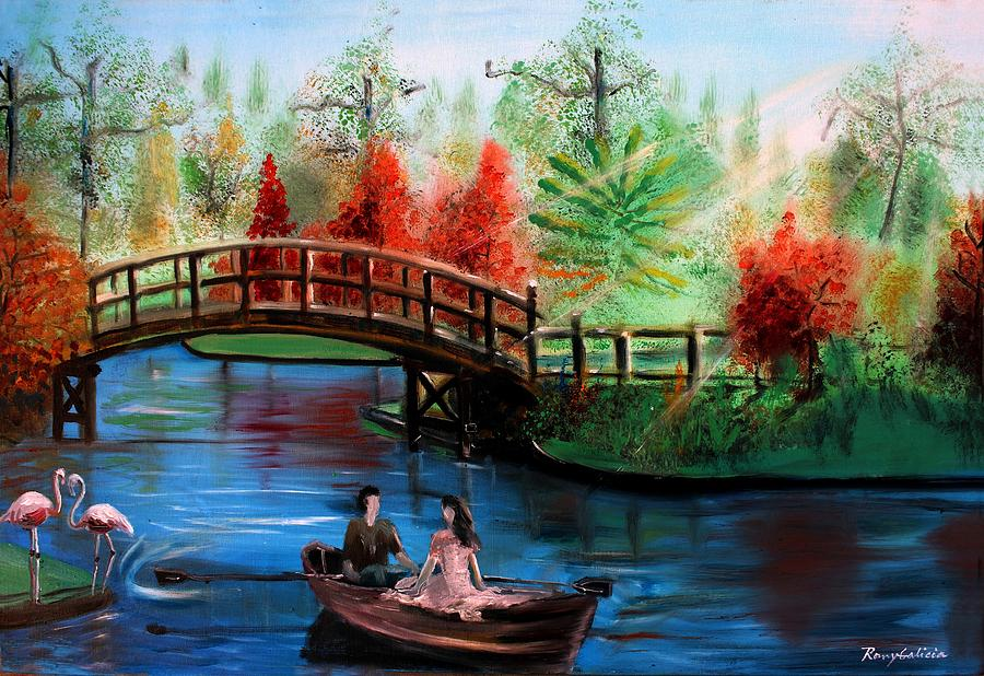 Lake Painting - Serenity by Rom Galicia