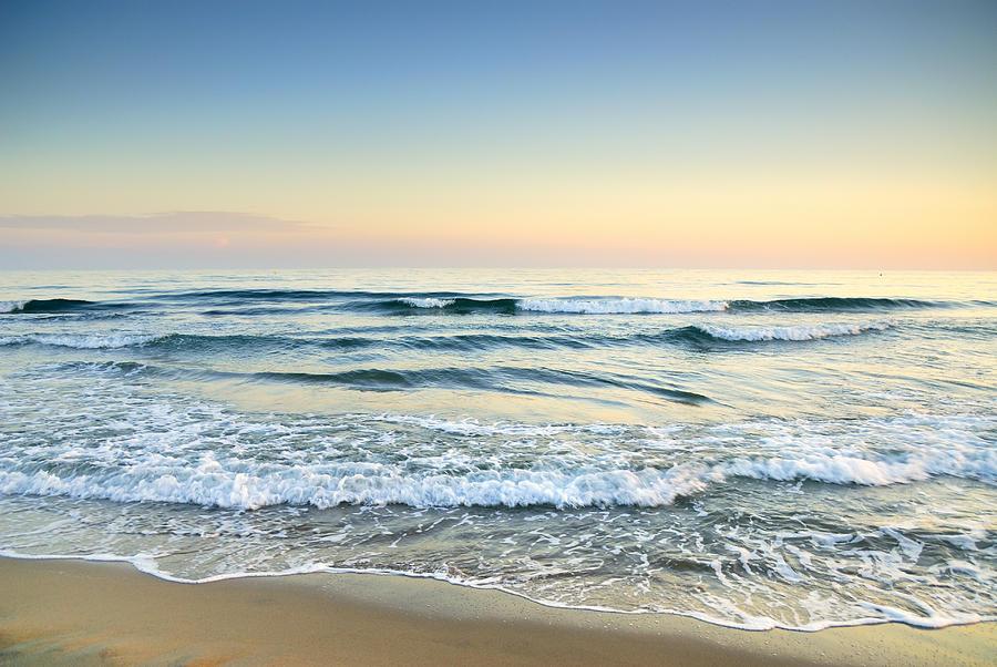 Vintage Photograph - Serenity Sea Vintage by Guido Montanes Castillo