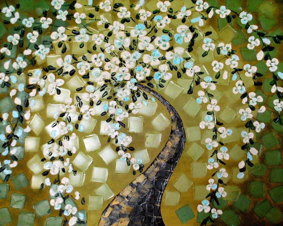 Green Painting - Serenity by Sonali Kukreja