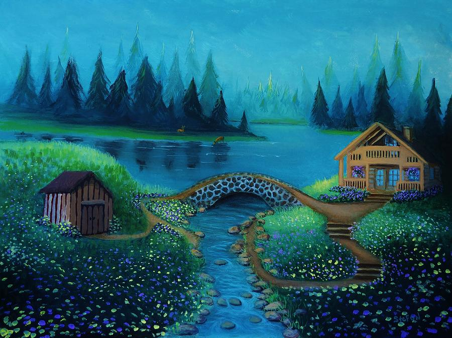 Serenity Painting - Serenity by Stefon Marc Brown
