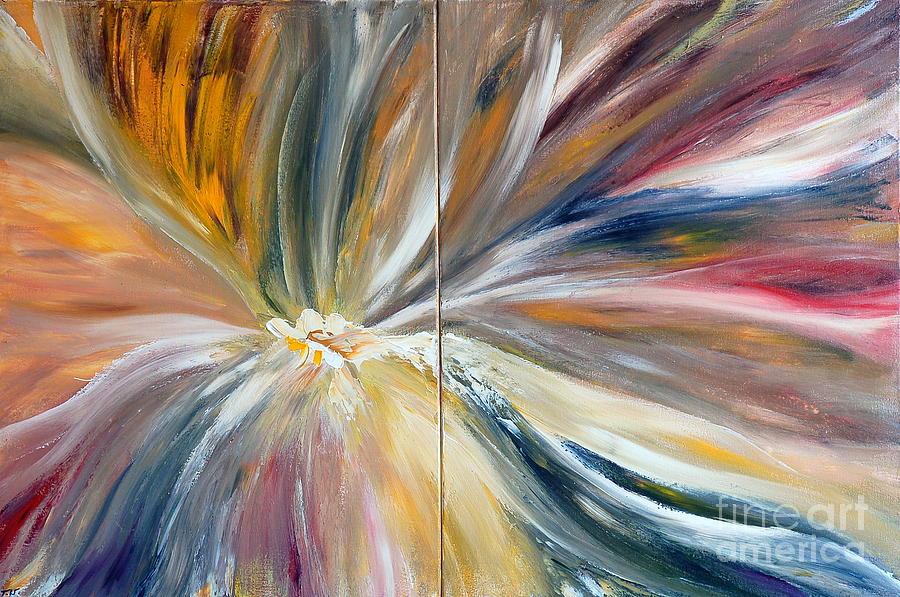 Abstract Painting - Serenity by Teresa Wegrzyn