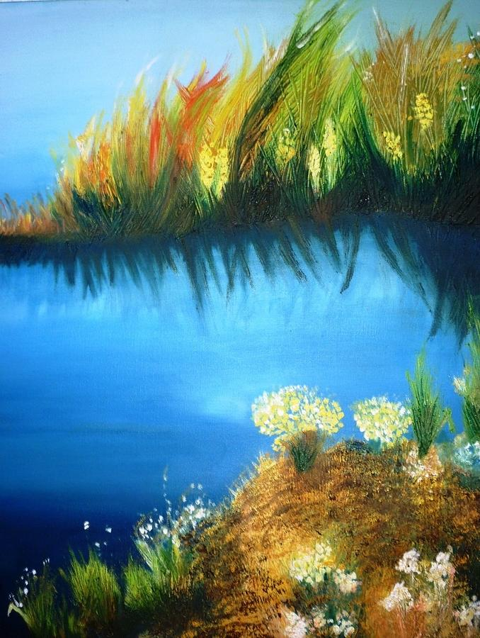 Nature Painting - Serenity by Veronica Chauvet