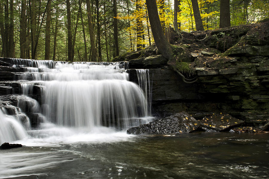 Waterfall Photograph - Serenity Waterfalls Landscape by Christina Rollo