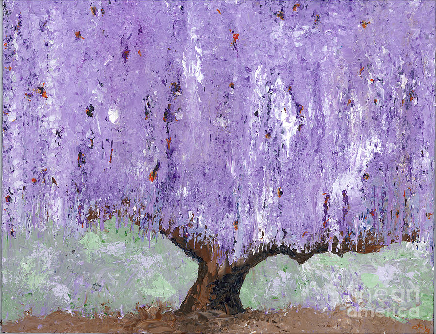 Willow Painting - Serenity Willow by Laura Charlesworth