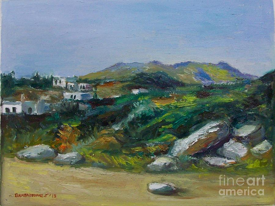 Serifos Painting - Serifos Island by George Siaba