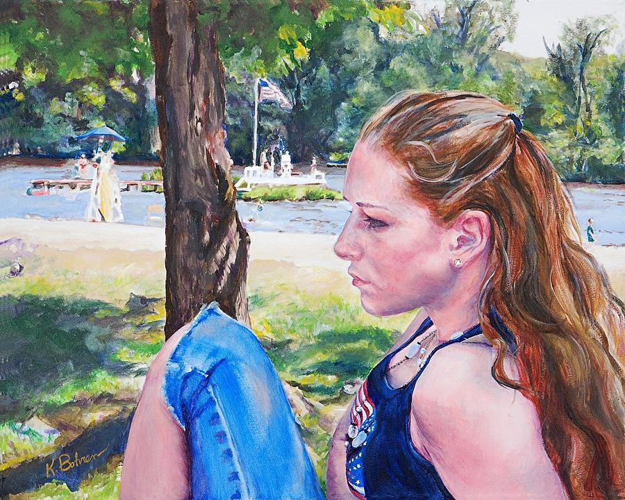 Portrait Painting - Serious Moment by Kay Bohren