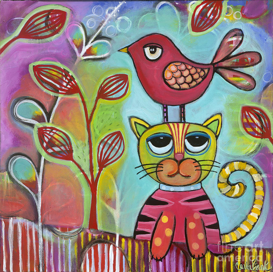 Cat Painting - Seriously? by Carla Bank