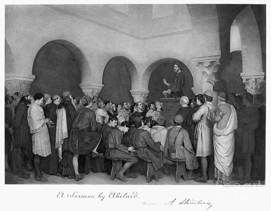 12th Century Drawing - Sermon By Abelard by Granger