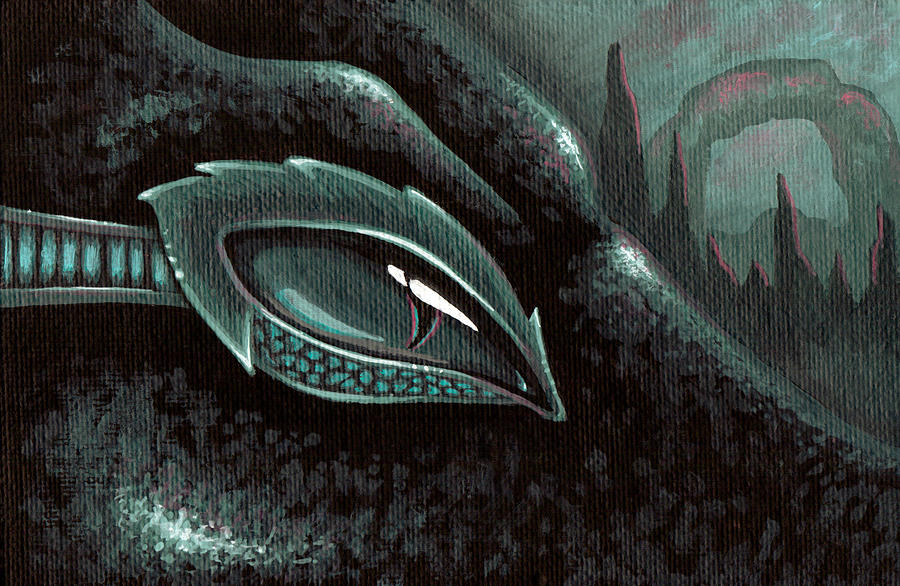 Sea Serpent Painting - Serpent Of The Coral Gardens by Elaina  Wagner