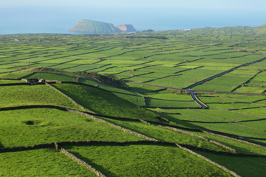 Acores Photograph - Serra Do Cume With Cabras Islets by Carl Bruemmer