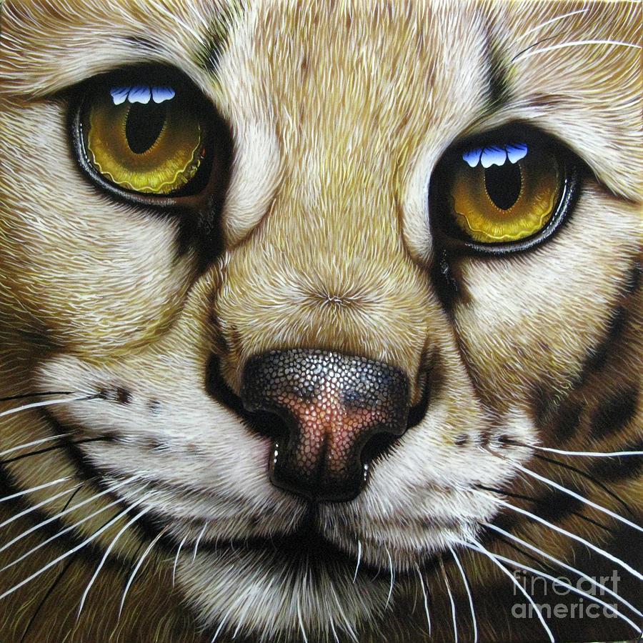 Serval Painting - Serval by Jurek Zamoyski