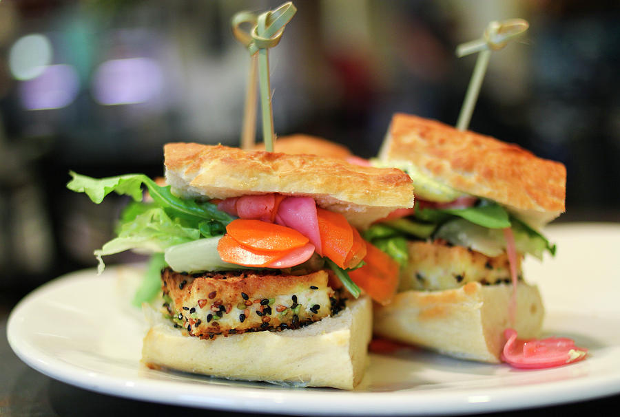 Sesame Tofu Sliders Photograph by Thanks For Taking Your Time To Look.  Sher Yip