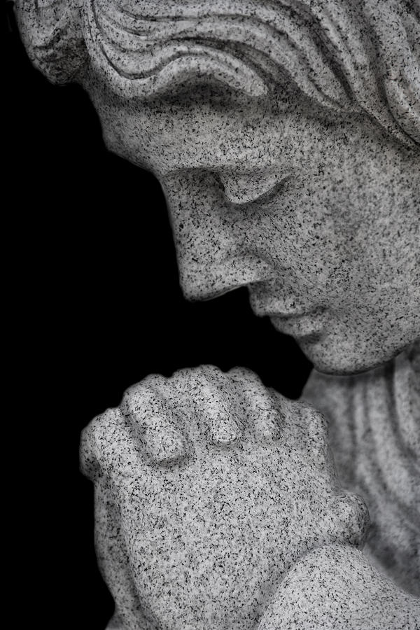 Angel Photograph - Set In Stone by Mary Burr