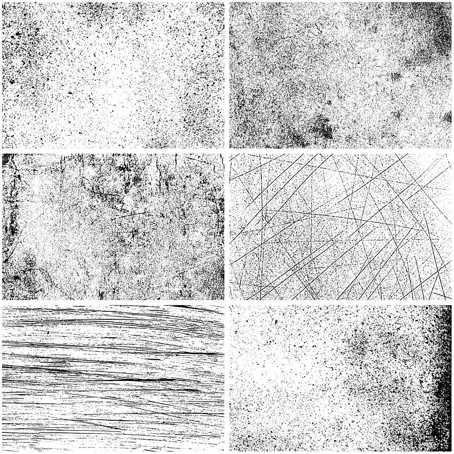Set of monochrome texture backgrounds Drawing by Ulimi
