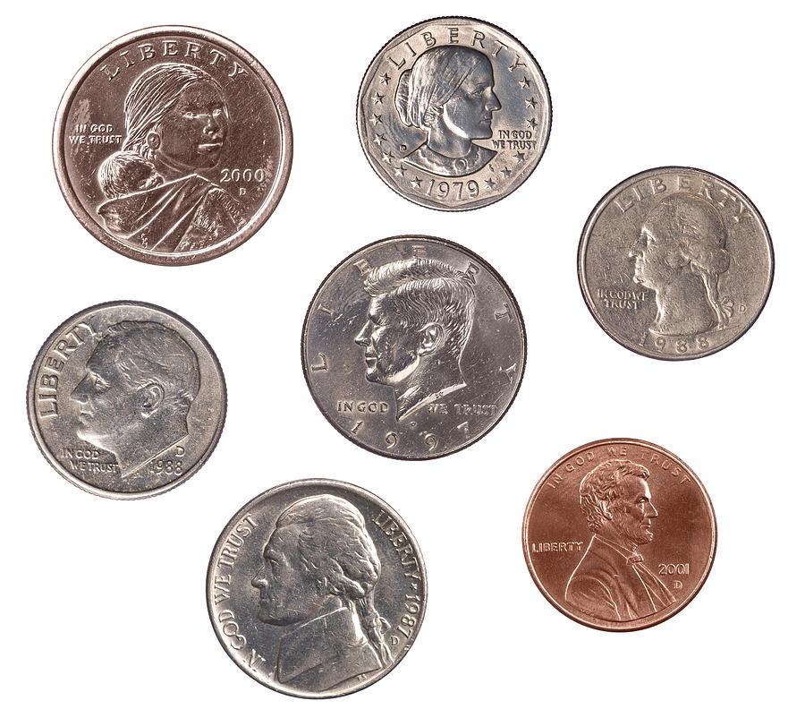 Coins Photograph - Set Of U.s. Coins by Joe Belanger