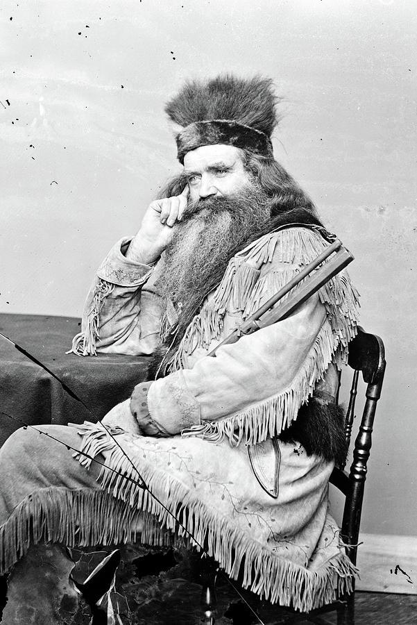 1860 Photograph - Seth Kinman (1815-1888) by Granger
