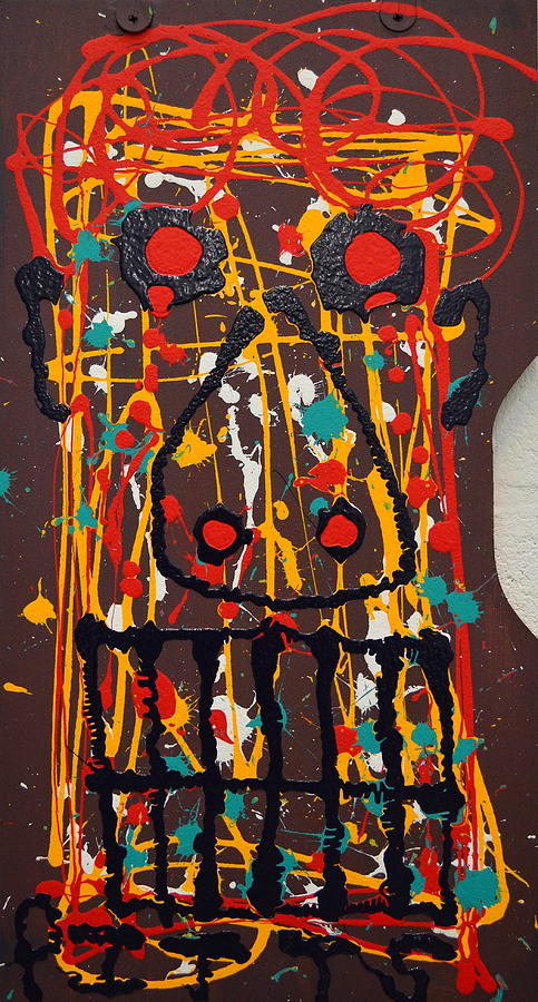 Greg Pitts Painting - Abstract Anger by Greg Pitts