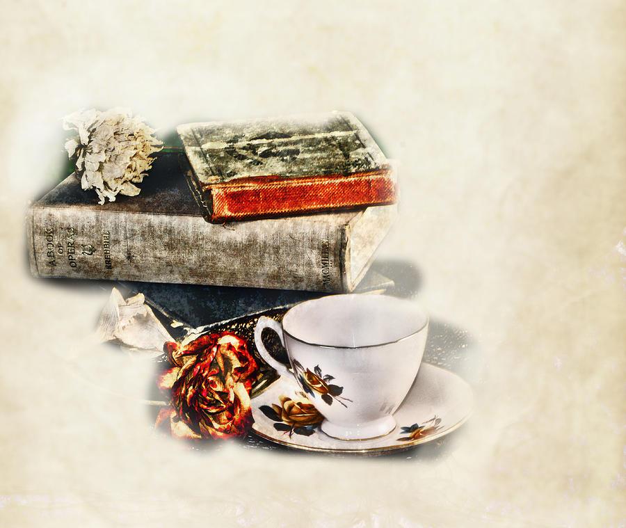 Teacup Digital Art - Settle In by Camille Lopez