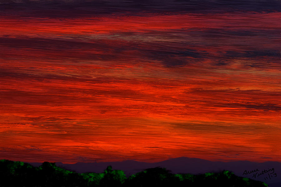 Sunset Painting - Seurat Sunset by Bruce Nutting