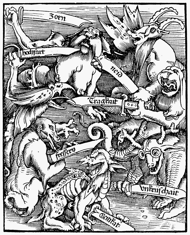 1511 Painting - Seven Deadly Sins, 1511 by Granger