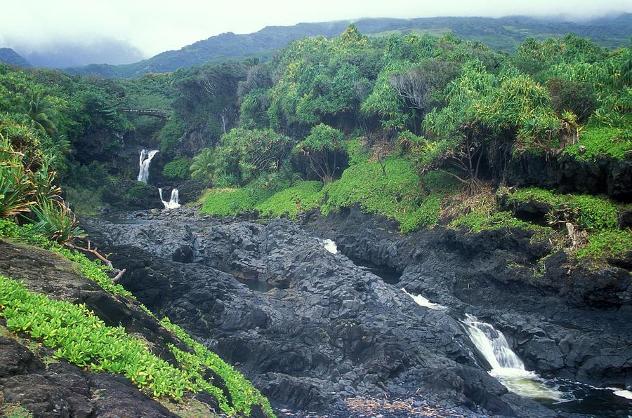 Hawaii Photograph - Seven Sacred Pools Haleakala National Park Maui Hawaii by John Burk