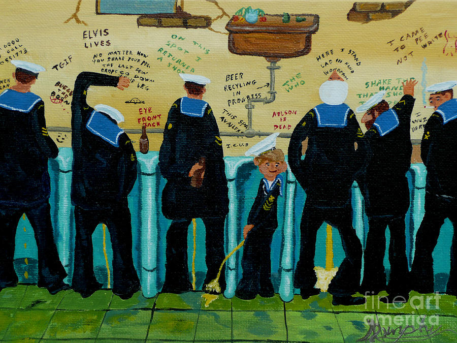 Sailors Painting - Seven Sailors by Anthony Dunphy