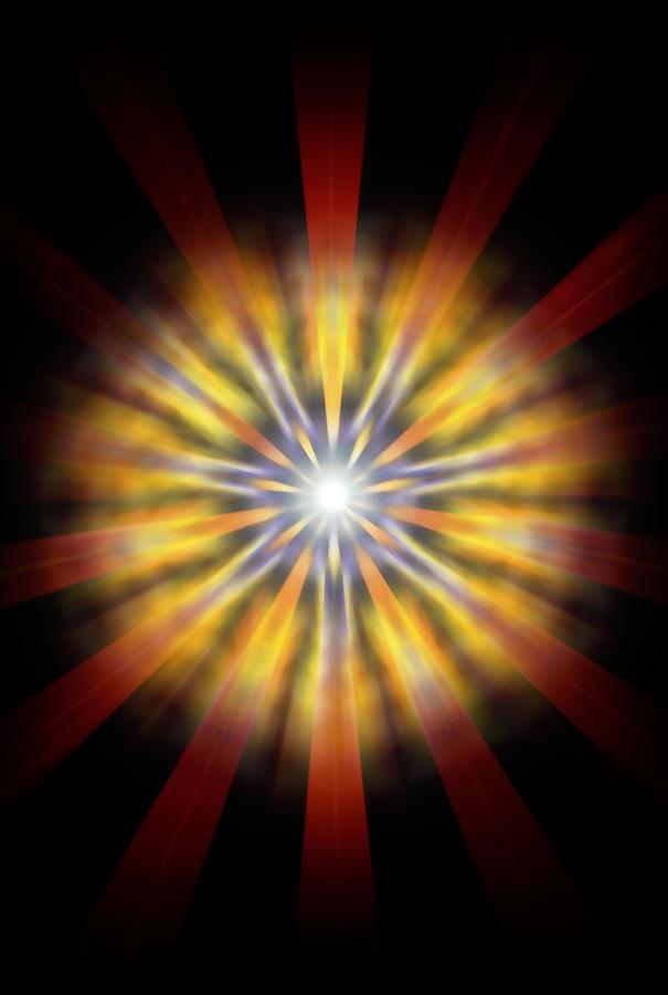 Sacred Drawing - Seven Sistars Of Light by Derek Gedney