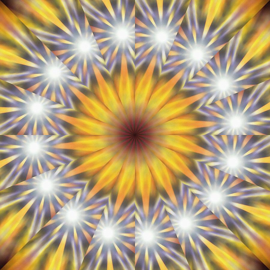 Sacred Drawing - Seven Sistars Of Light K1 by Derek Gedney