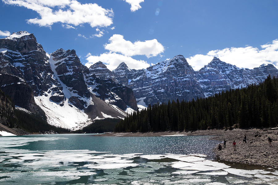 Banff National Park Photograph - Seven Sisters At Moraine Lake by Angela Boyko