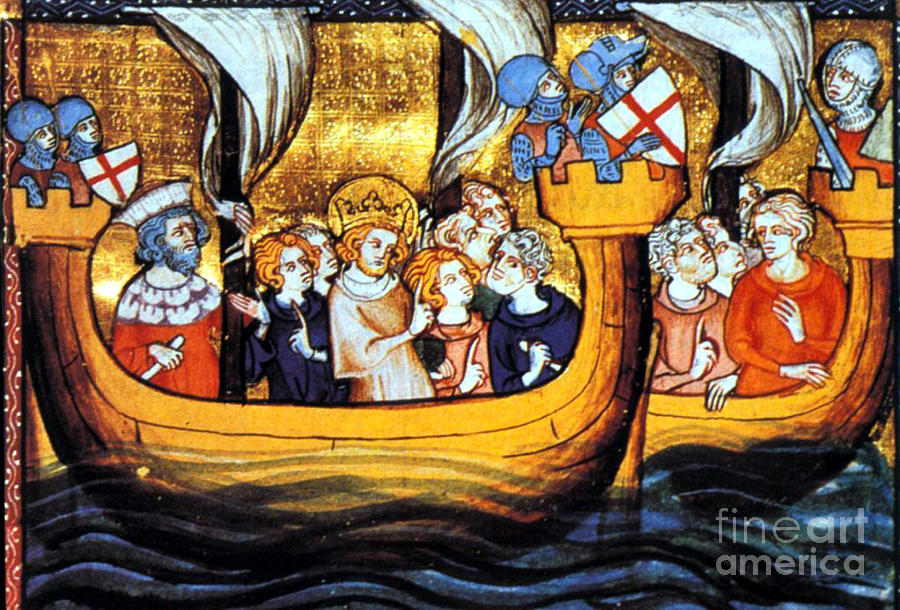 Navigation Photograph - Seventh Crusade 13th Century by Photo Researchers