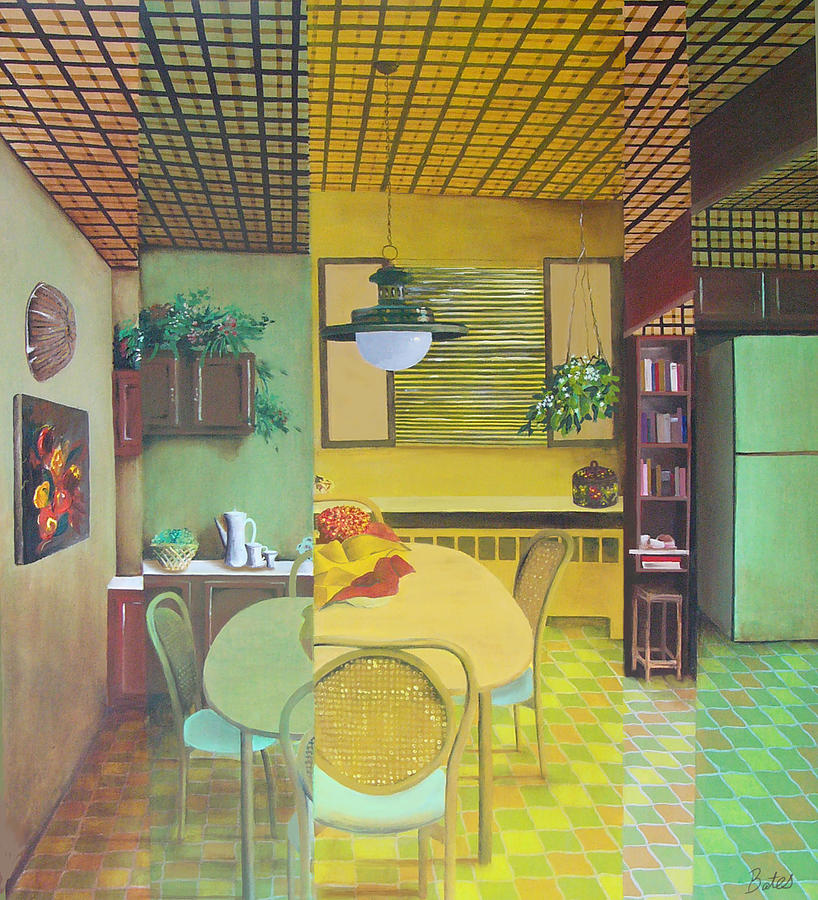 Seventies Kitchen Painting by Lisa Bates