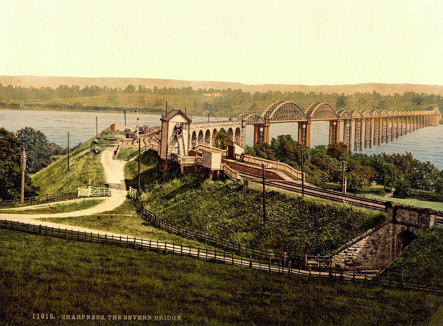 Human Photograph - Severn Railway Bridge by Library Of Congress
