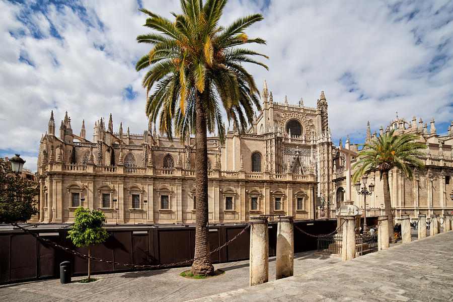 Spain Photograph - Seville Cathedral In Spain by Artur Bogacki