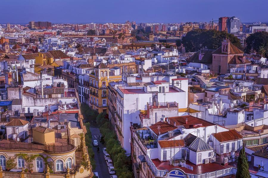 Joan Carroll Photograph - Seville Cityscape by Joan Carroll