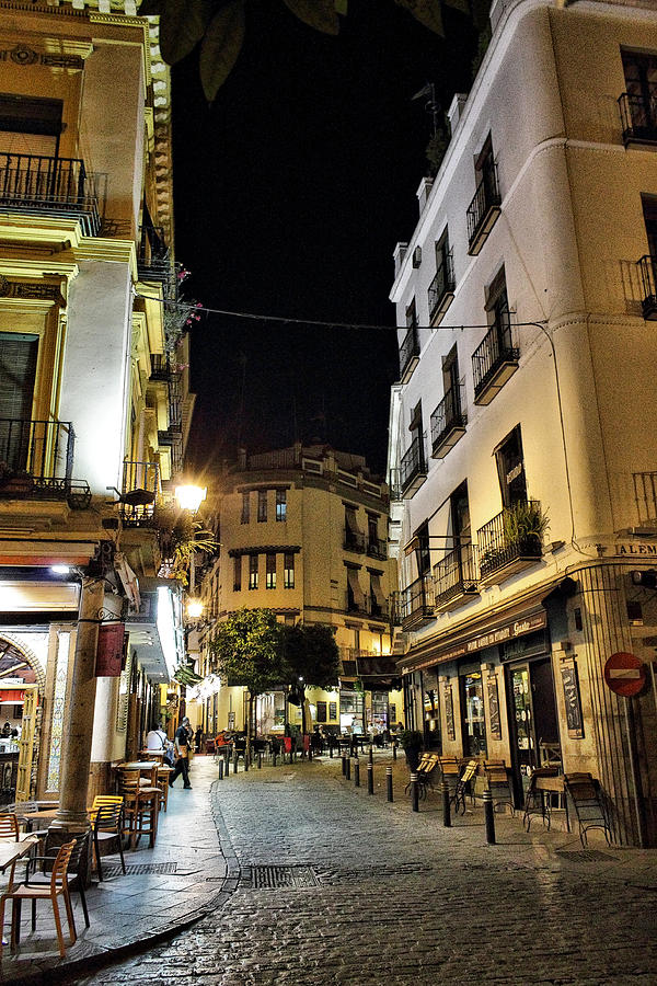 Hdr Photograph - Seville Nights by Pedro Fernandez